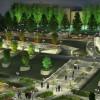 """Eine Variante des Parkes «Geschichte von Tatarstan» vor dem """"Palast der Ackerbauer"""" – der westliche Teil."""