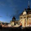 """Eine Variante des Parkes «Geschichte von Tatarstan» vor dem """"Palast der Ackerbauer"""" – der östliche Teil"""