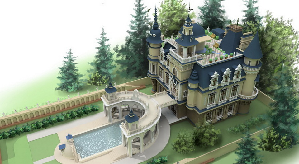 Conceptual Design Out Of Town Castle Antica